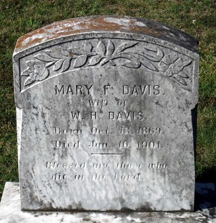 DAVIS, MARY F. - Hanover County, Virginia | MARY F. DAVIS - Virginia Gravestone Photos