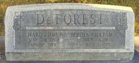 WILLIAMSON DEFOREST, BERTHA - Hanover County, Virginia   BERTHA WILLIAMSON DEFOREST - Virginia Gravestone Photos