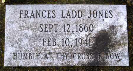 JONES, FRANCES LADD - Hanover County, Virginia   FRANCES LADD JONES - Virginia Gravestone Photos
