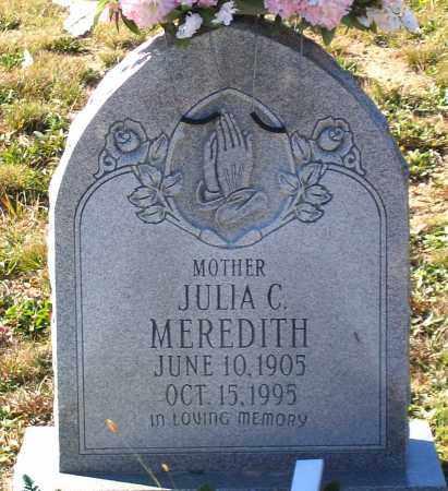 MEREDITH, JULIA C. - Hanover County, Virginia | JULIA C. MEREDITH - Virginia Gravestone Photos