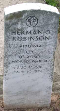 ROBINSON, HERMAN O - Hanover County, Virginia | HERMAN O ROBINSON - Virginia Gravestone Photos