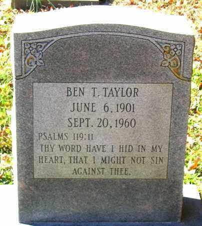 TAYLOR, BEN T. - Hanover County, Virginia | BEN T. TAYLOR - Virginia Gravestone Photos