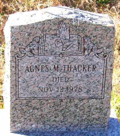 THACKEER, AGNES M. - Hanover County, Virginia   AGNES M. THACKEER - Virginia Gravestone Photos