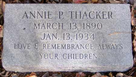THACKER, ANNIE P. - Hanover County, Virginia | ANNIE P. THACKER - Virginia Gravestone Photos
