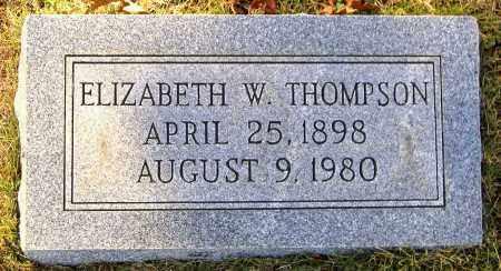 THOMPSON, ELIZABETH W. - Hanover County, Virginia | ELIZABETH W. THOMPSON - Virginia Gravestone Photos