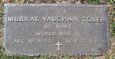 TOLER, MURRAY VAUGHAN - Hanover County, Virginia | MURRAY VAUGHAN TOLER - Virginia Gravestone Photos