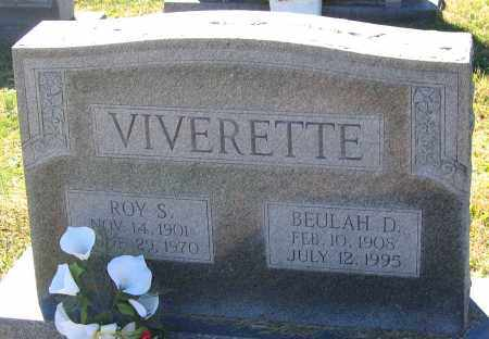 VIVERETTE, BEULAH D. - Hanover County, Virginia | BEULAH D. VIVERETTE - Virginia Gravestone Photos