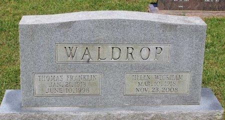 WALDROP, THOMAS FRANKLIN - Hanover County, Virginia | THOMAS FRANKLIN WALDROP - Virginia Gravestone Photos
