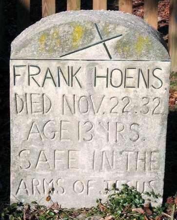 HOENS, FRANK - Henrico County, Virginia | FRANK HOENS - Virginia Gravestone Photos