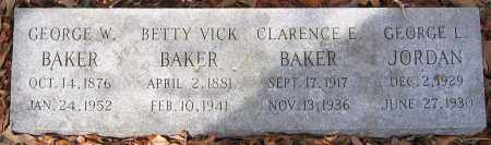 BAKER, GEORGE W. - Henrico County, Virginia | GEORGE W. BAKER - Virginia Gravestone Photos