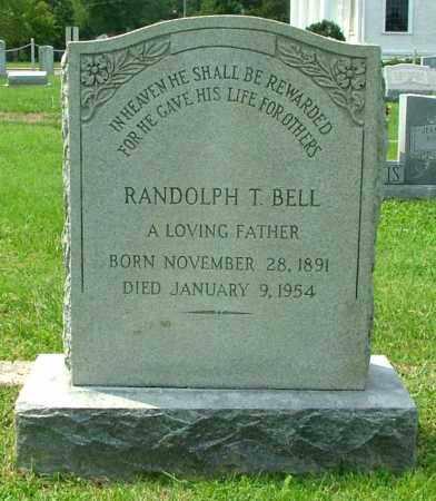 BELL, RANDOLPH T. - Henrico County, Virginia | RANDOLPH T. BELL - Virginia Gravestone Photos