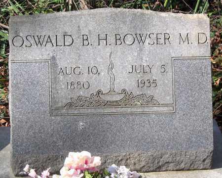 BOWSER, OSWALD B. H. - Henrico County, Virginia   OSWALD B. H. BOWSER - Virginia Gravestone Photos