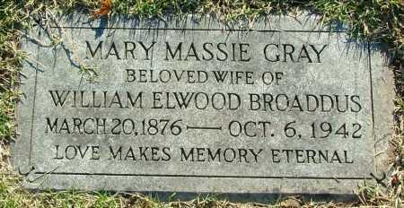 BROADDUS, MARY MASSIE - Henrico County, Virginia   MARY MASSIE BROADDUS - Virginia Gravestone Photos