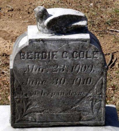 COLE, BERDIE G. - Henrico County, Virginia | BERDIE G. COLE - Virginia Gravestone Photos