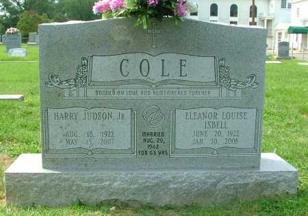 COLE, HARRY JUDSON, JR. - Henrico County, Virginia | HARRY JUDSON, JR. COLE - Virginia Gravestone Photos