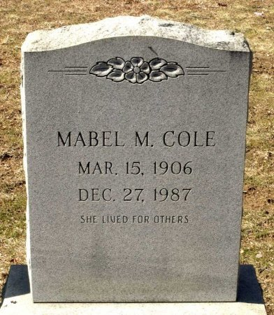 COLE, MABEL MONTCLAIR - Henrico County, Virginia | MABEL MONTCLAIR COLE - Virginia Gravestone Photos