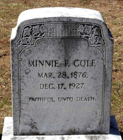 COLE, MINNIE GERTRUDE - Henrico County, Virginia | MINNIE GERTRUDE COLE - Virginia Gravestone Photos