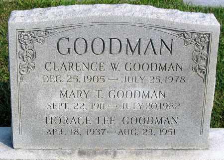 GOODMAN, CLARENCE W. - Henrico County, Virginia | CLARENCE W. GOODMAN - Virginia Gravestone Photos