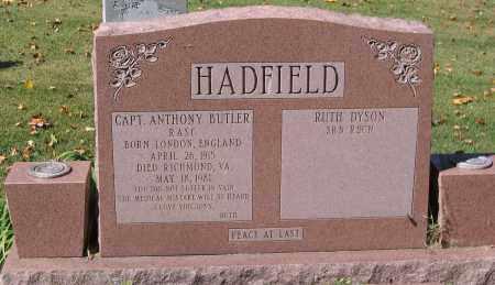 HADFIELD, ANTHONY - Henrico County, Virginia | ANTHONY HADFIELD - Virginia Gravestone Photos