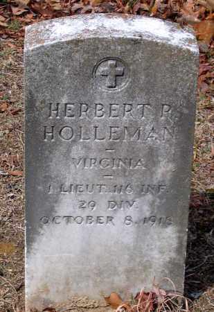 HOLLEMAN, HERBERT R. - Henrico County, Virginia | HERBERT R. HOLLEMAN - Virginia Gravestone Photos