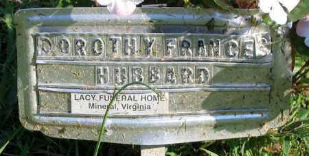 HUBBARD, DOROTHY FRANCES - Henrico County, Virginia | DOROTHY FRANCES HUBBARD - Virginia Gravestone Photos
