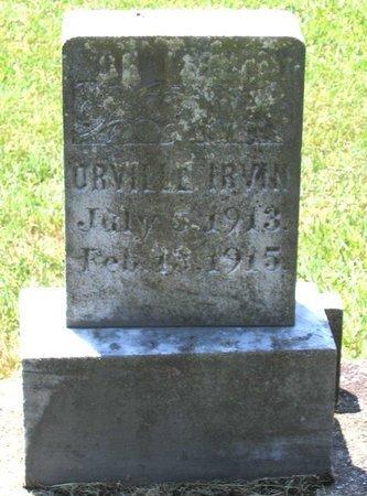 IRVIN, ORVILLE - Henrico County, Virginia   ORVILLE IRVIN - Virginia Gravestone Photos