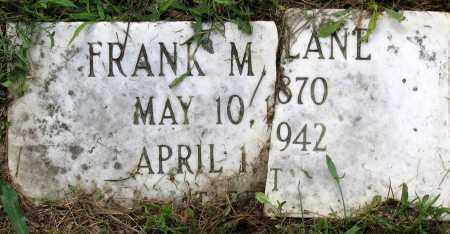 LANE, FRANK M. - Henrico County, Virginia   FRANK M. LANE - Virginia Gravestone Photos