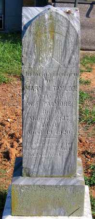 TAYLOR PALMORE, MARY W. - Henrico County, Virginia | MARY W. TAYLOR PALMORE - Virginia Gravestone Photos
