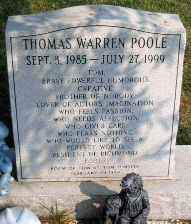 POOLE, THOMAS WARREN - Henrico County, Virginia   THOMAS WARREN POOLE - Virginia Gravestone Photos
