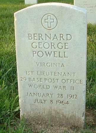 POWELL, BERNARD GEORGE - Henrico County, Virginia | BERNARD GEORGE POWELL - Virginia Gravestone Photos