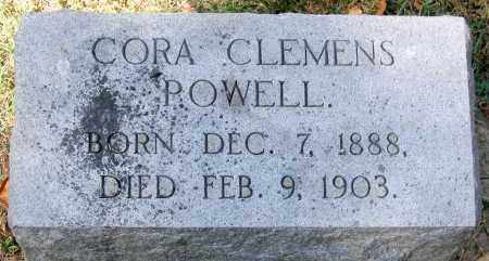 POWELL, CORA CLEMENS - Henrico County, Virginia | CORA CLEMENS POWELL - Virginia Gravestone Photos