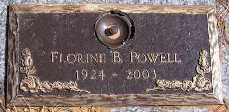 POWELL, FLORINE B. - Henrico County, Virginia | FLORINE B. POWELL - Virginia Gravestone Photos