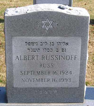 RUSSINOFF, ALBERT - Henrico County, Virginia | ALBERT RUSSINOFF - Virginia Gravestone Photos