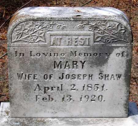 SHAW, MARY - Henrico County, Virginia | MARY SHAW - Virginia Gravestone Photos
