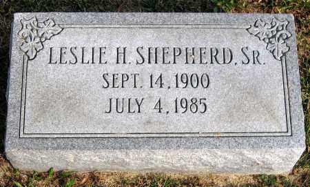 SHEPHERD, LESLIE H. SR. - Henrico County, Virginia   LESLIE H. SR. SHEPHERD - Virginia Gravestone Photos