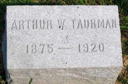 TAURMAN, ARTHUR W. - Henrico County, Virginia | ARTHUR W. TAURMAN - Virginia Gravestone Photos