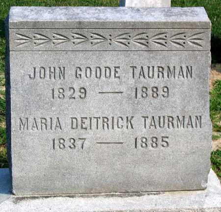 DEITRICK TAURMAN, MARIA - Henrico County, Virginia | MARIA DEITRICK TAURMAN - Virginia Gravestone Photos