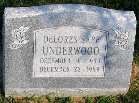 UNDERWOOD, DELORES SAPP - Henrico County, Virginia | DELORES SAPP UNDERWOOD - Virginia Gravestone Photos
