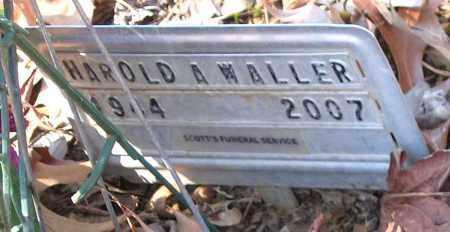 WALLER, HAROLD A. - Henrico County, Virginia   HAROLD A. WALLER - Virginia Gravestone Photos