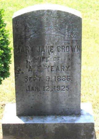 YEARY, MARY JANE - Henrico County, Virginia | MARY JANE YEARY - Virginia Gravestone Photos