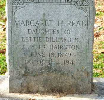 HAIRSTON READ, MARGARET - Henry County, Virginia | MARGARET HAIRSTON READ - Virginia Gravestone Photos