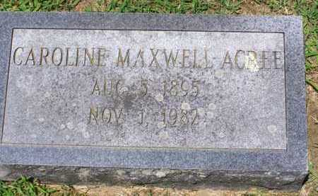MEXWELL ACREE, CAROLINE - King and Queen County, Virginia | CAROLINE MEXWELL ACREE - Virginia Gravestone Photos
