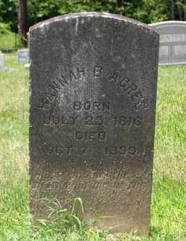 ACREE, HANNAH - King and Queen County, Virginia | HANNAH ACREE - Virginia Gravestone Photos