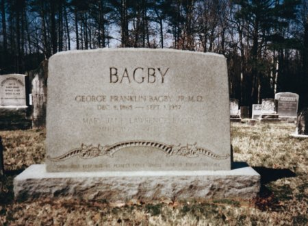 LAWRENCE BAGBY, MARY JANE - King and Queen County, Virginia | MARY JANE LAWRENCE BAGBY - Virginia Gravestone Photos