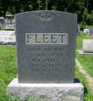 BROWNE FLEET, ANNIE - King and Queen County, Virginia | ANNIE BROWNE FLEET - Virginia Gravestone Photos