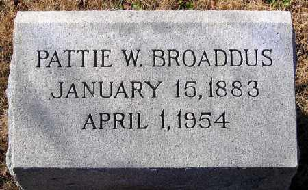 BROADDUS, PATTIE W. - King William County, Virginia   PATTIE W. BROADDUS - Virginia Gravestone Photos