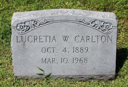 CARLTON, LUCRETIA W. - King William County, Virginia   LUCRETIA W. CARLTON - Virginia Gravestone Photos
