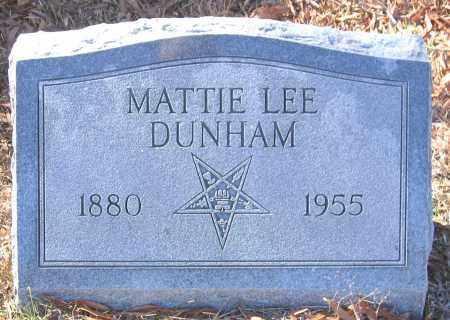 DUNHAM, MATTIE LEE - King William County, Virginia | MATTIE LEE DUNHAM - Virginia Gravestone Photos