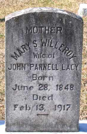 WILLEROY LACY, MARY S. - King William County, Virginia   MARY S. WILLEROY LACY - Virginia Gravestone Photos