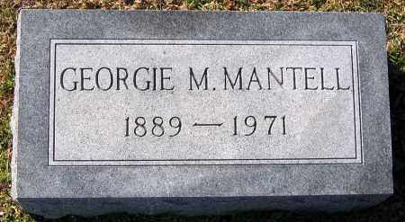 MANTELL, GEORGIE M. - King William County, Virginia   GEORGIE M. MANTELL - Virginia Gravestone Photos